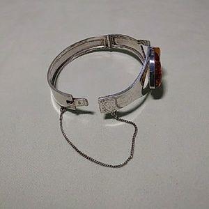 Jewelry - Sterling Silver Cuff Bracelet Amber